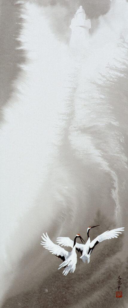 馬驍「恋する灯台」96x42cm