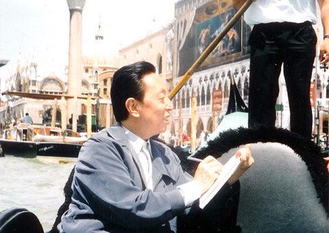 馬驍イタリアにて写生1998年