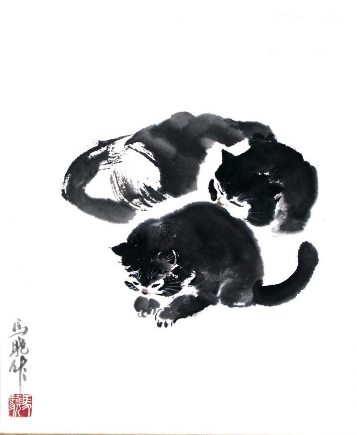 動物(焦墨画法)
