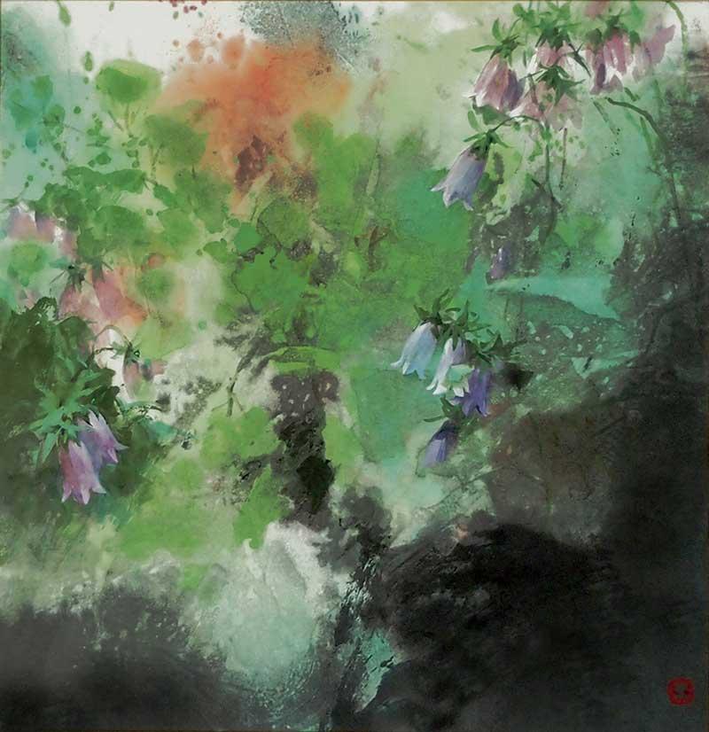 王荻地作品「夏韵」50x50cm