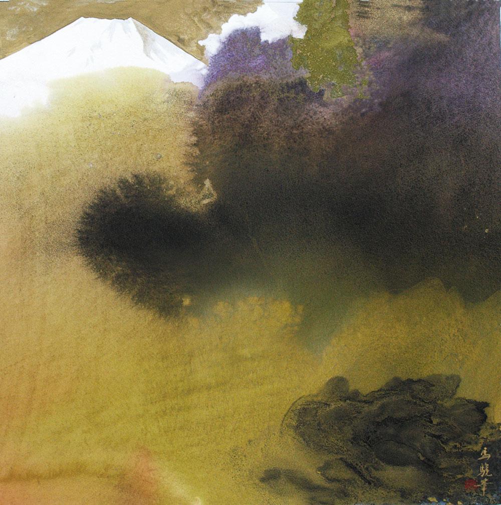 馬驍「富士」45×45cm