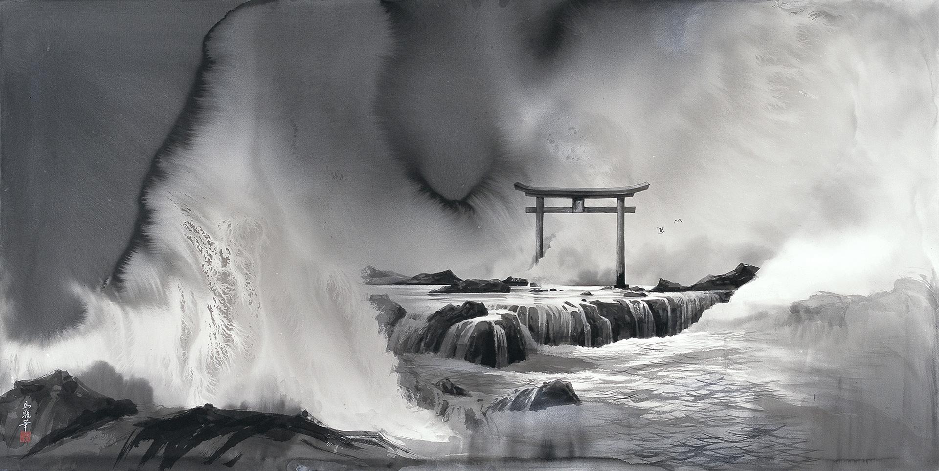 馬驍「海神」90×180cm