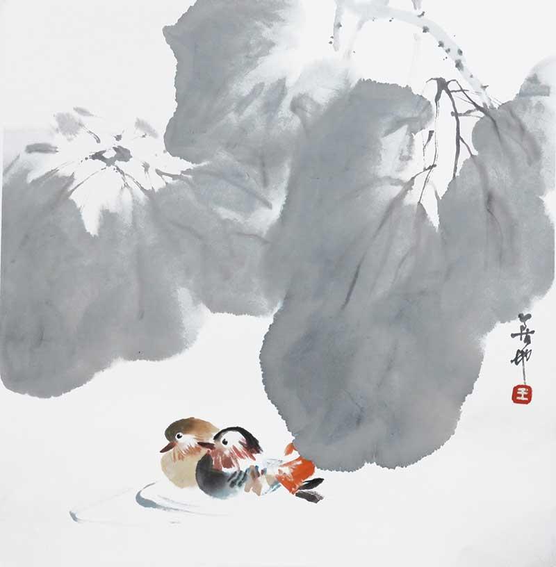 王荻地作品「絆」33.5ⅹ33.5cm