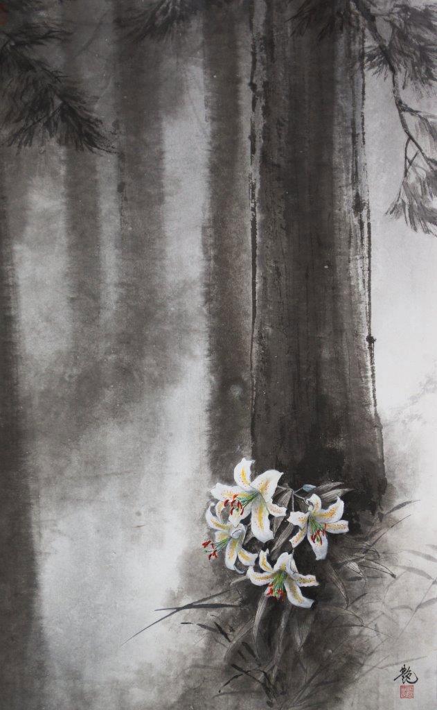 馬艶「白い精霊」96×60cm