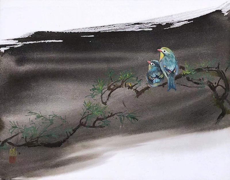 馬艶「ローズマリー」31×40.5cm