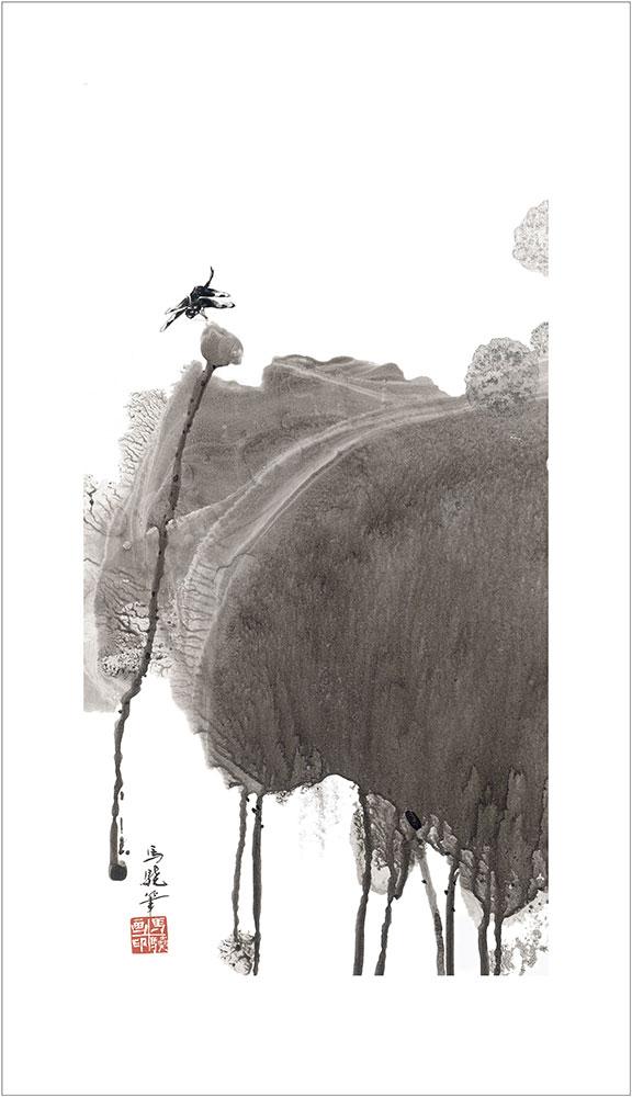 馬驍「蜻蛉荷葉」(No.MJ00006)