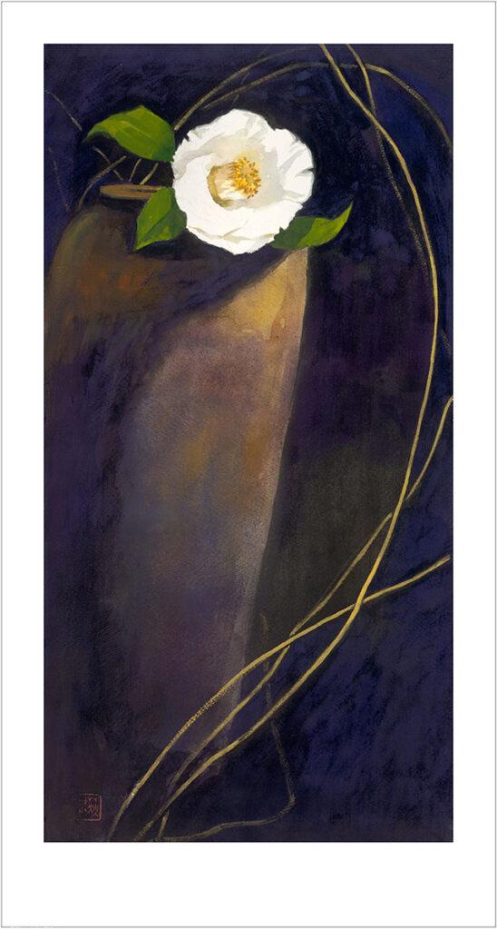 王荻地「白椿と花瓶」(No.WJ00003)