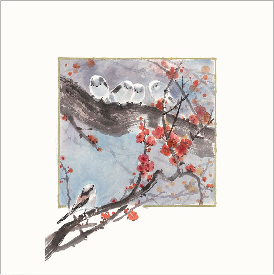 王荻地「紅梅」(No.WJ0009)